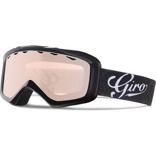 Giro Charm, black sketch floral/Lens: rose silver - Skibrille