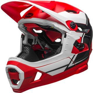 Bell Super DH MIPS, red/white/black - Fahrradhelm