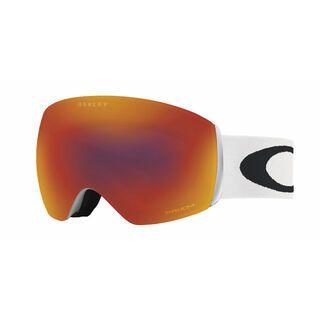 *** 2. Wahl *** Oakley Flight Deck Prizm, matte white/Lens: prizm torch iridium - Skibrille |
