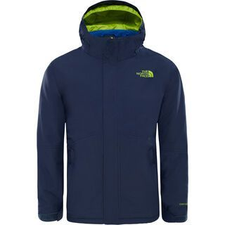 The North Face Boys Boundary Triclimat Jacket, blue/lime green - Skijacke
