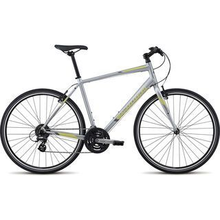 Specialized Sirrus 2017, silver/yellow/silver - Fitnessbike