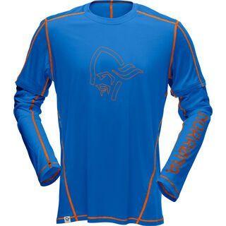 Norrona /29 tech long sleeve Shirt (M), blue/orange - Radtrikot