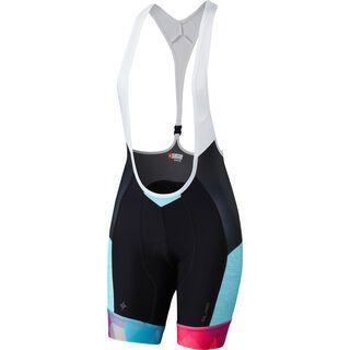 Specialized Women's SL Pro Bib Short, turquoise/geo fade - Radhose