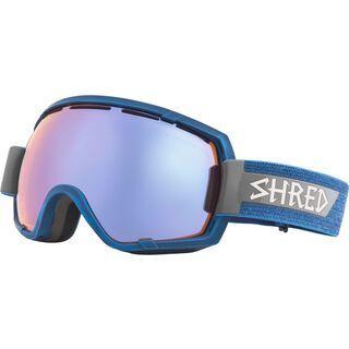 Shred Stupefy inkl. Wechselscheibe, brushed royal/Lens: frozen reflect smoke - Skibrille