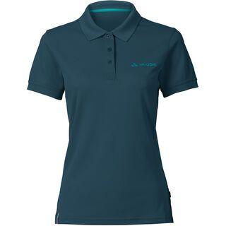 Vaude Women's Marwick Polo Shirt II, dark petrol - Radtrikot