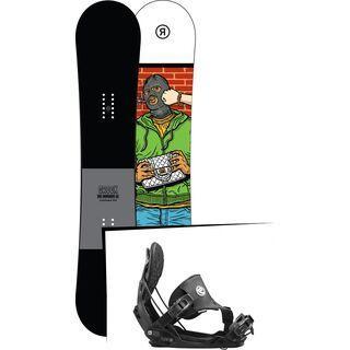 Set: Ride Crook 2017 + Flow Five Hybrid 2016, black - Snowboardset
