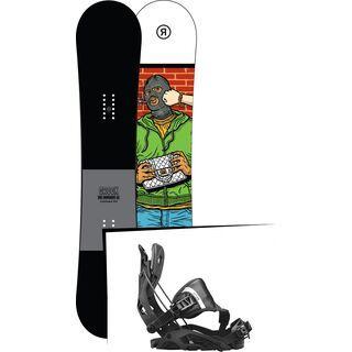 Set: Ride Crook 2017 + Flow Fuse Hybrid 2017, black - Snowboardset