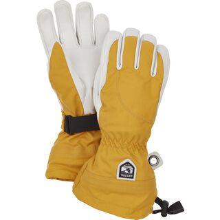 Hestra Heli Ski Female 5 Finger, mustard/offwhite - Skihandschuhe