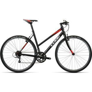 Cube SL Road Trapeze 2016, black white red - Fitnessbike