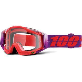100% Racecraft, watermelon/Lens: clear - MX Brille