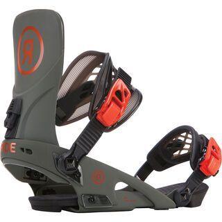 Ride LTD 2018, olive - Snowboardbindung