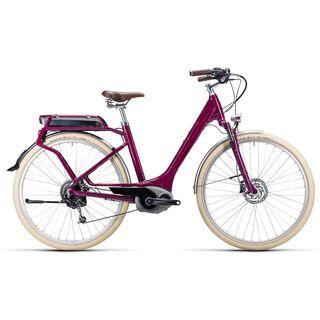 Cube Elly Ride Hybrid Easy Entry 2015, grape red/flashred - E-Bike