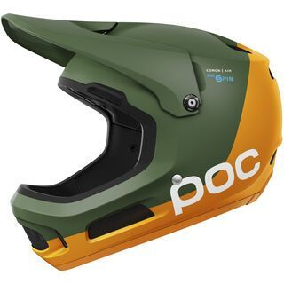 POC Coron Air SPIN, septane green/zink orange - Fahrradhelm