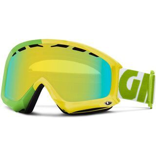 Giro Station, Yellow Color Block/Loden Yellow - Skibrille