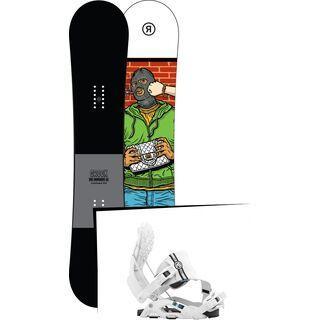 Set: Ride Crook 2017 + Flow Nexus Hybrid 2016, white - Snowboardset