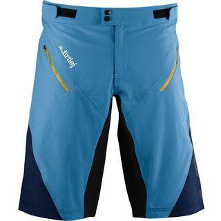 dirtlej Trailscout Half & Half Men, blau/gelb - Radhose