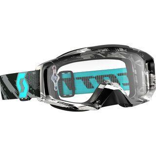 Scott Tyrant, zebra grey/turquoise clear - MX Brille