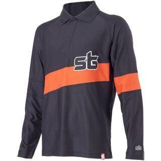Platzangst LS Rugby, Black/Orange - Radtrikot