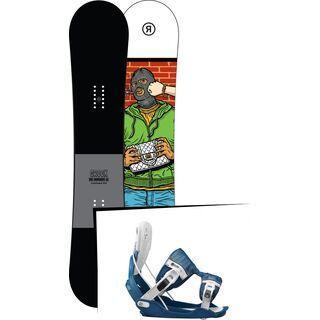 Set: Ride Crook 2017 + Flow Five 2017, blue - Snowboardset