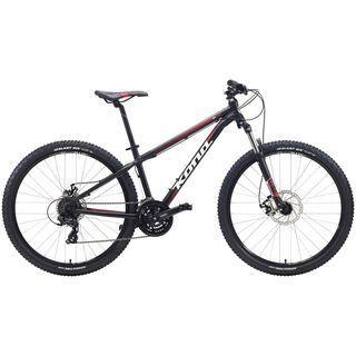 Kona Lanai 27.5 2015, matt black/white/red - Mountainbike