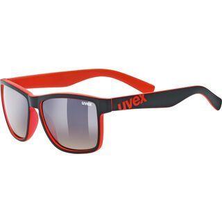 uvex lgl 39, black mat red/Lens: litemirror brown dégradé - Sonnenbrille