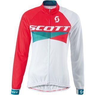 Scott Womens RC Pro light l/sl Shirt, hibiscus red/white - Radtrikot