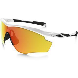 Oakley M2 Frame XL, polished white/Lens: fire iridium - Sportbrille