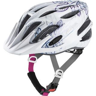 Alpina FB Jr. 2.0 Flash, white floral - Fahrradhelm