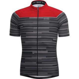 Gore Bike Wear E Stripes Trikot, black red - Radtrikot