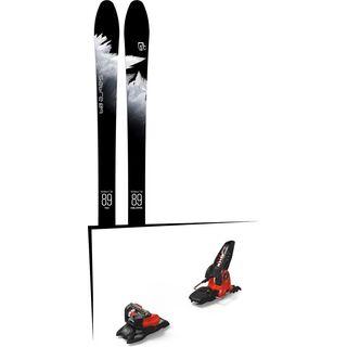 Set: Icelantic Sabre 89 2018 + Marker Jester 18 Pro ID black/flo-red