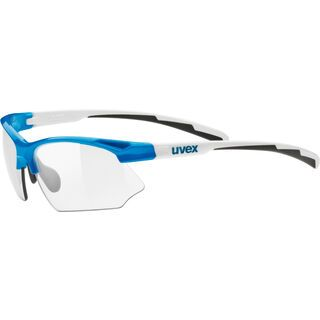 uvex sportstyle 802 v, blue white/Lens: variomatic smoke - Sportbrille