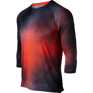 Specialized Demo 3/4 Sleeve Jersey, black/rocket red - Radtrikot