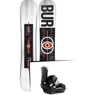 Set: Burton Process Flying V Wide 2019 + Burton Custom black/multi
