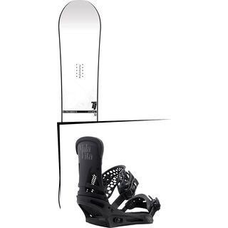 Set: Nitro T1 2017 + Burton Malavita 2017, black - Snowboardset