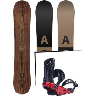 Set: Arbor Element Premium Mid Wide 2017 + Ride Capo, preston - Snowboardset