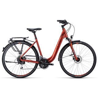 Cube Touring Pro Easy Entry 2015, metallic red black flashred - Trekkingrad