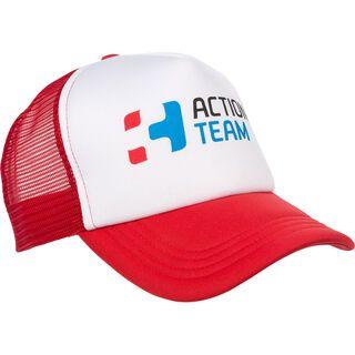 Cube Trucker Cap Action Team, white´n´red