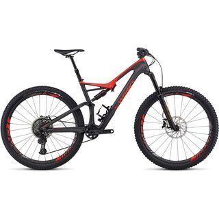 Specialized S-Works Stumpjumper FSR Carbon 29 2017, silver tint carbon/red - Mountainbike