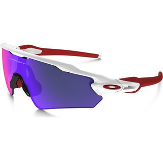 Oakley Radar EV Path, polished white/Lens: positive red iridium - Sportbrille