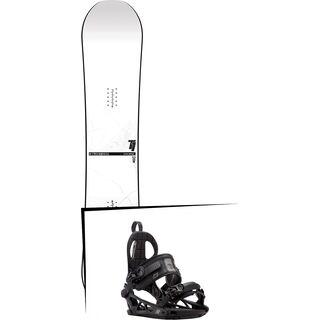 Set: Nitro T1 Wide 2017 + K2 Cinch CTC 2017, black - Snowboardset