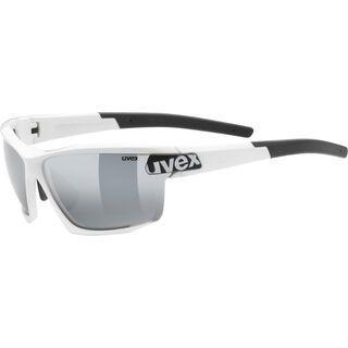 uvex sportstyle 113 inkl. Wechselgläser, white/Lens: litemirror silver - Sportbrille