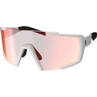 Scott Shield, white/Lens: red chrome enh - Sportbrille