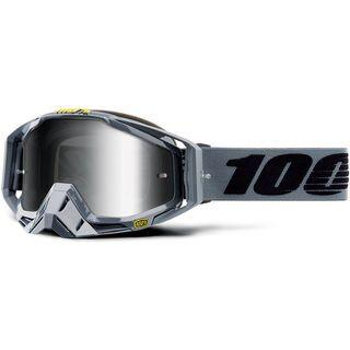 100% Racecraft inkl. WS, nardo/Lens: mirror silver - MX Brille