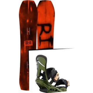 Set: Ride Warpig Large 2017 + Burton Mission 2017, track day green - Snowboardset