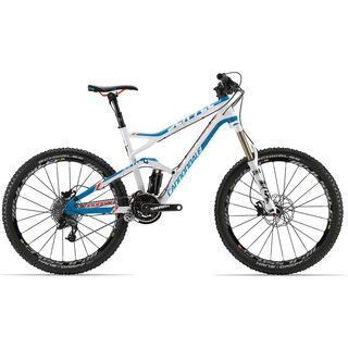 Cannondale Jekyll Carbon 2 2013, ultra blue w/ magnesium white and 40 orange accents gloss - Mountainbike