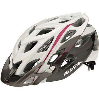 Alpina D-Alto, white titanium purple - Fahrradhelm