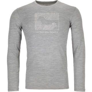 Ortovox 185 Merino Contrast Long Sleeve M, grey blend - Unterhemd