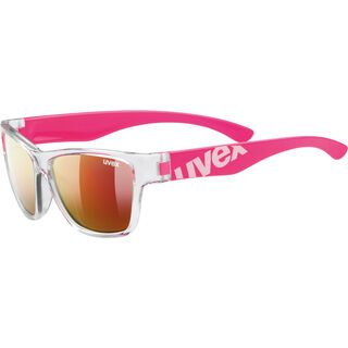 uvex sportstyle 508, clear pink/Lens: mirror red - Sportbrille