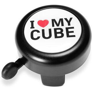 Cube Fahrradklingel I Love My Cube black´n´white´n´red