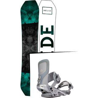 Set: Ride Helix 2017 + Ride Rodeo LTD 2016, silver - Snowboardset